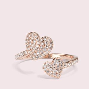 Kate Spade Yours Truly Pave Heart Ring 💖